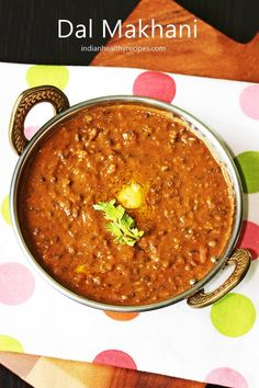 Dal makhani recipe with step by step photos. Dal makhani is one of the best dal recipes of India.It is slow cooked with basic spices it tastes delicious Veg Recipes, Curry Recipes, Indian Food Recipes, Vegetarian Recipes, Cooking Recipes, Slow Cooking, Lentil Recipes, Buffet Recipes, Indian Foods