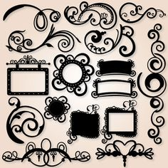 Swirlies SVG Collection from SVG cuts design elements $5.99 also lots more to check out