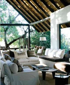 This room is modern global style. Looks so comfy.    Pinned By Vicki Visel Florido