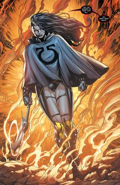 Grail, daughter of Darkseid, by Jason Fabok.