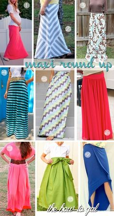 DIY maxi dress or skirt. Cute!