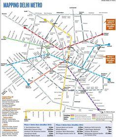 Delhi Metro Map Trips Pinterest