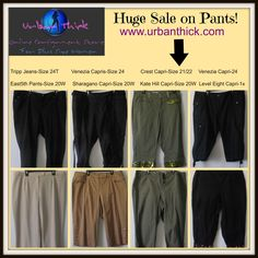 """Huge #sale on #plus #size #curvy cute #capri  #cropped #pants #jeans at urban thick! """"Let your #curves be heard!"""" We sell quality #clothes at #affordable prices!"""