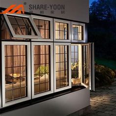 Find top aluminium sliding windows and doors online, prices list and cost details for Shareyoon aluminium sliding windows and doors manufacturers & suppliers. Window Grill Design Modern, Grill Door Design, Window Design, Modern House Design, Aluminum Windows Design, Aluminium Windows And Doors, Double Casement Windows, Sliding Windows, House Extension Design