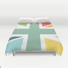 Colourful Union Jack duvet cover modern duvet by JAYSANSTUDIO