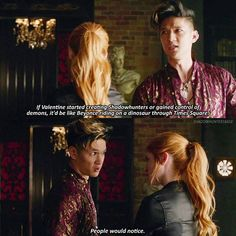 "#Shadowhunters 1x06 ""Of Men and Angels"" - Clary and Magnus"