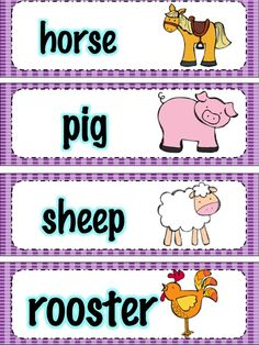 Apples and ABC's: Monthly Vocabulary Cards Farm Lessons, Music Lessons, Farm Animals Preschool, Holiday Classrooms, Classroom Ideas, Preschool Curriculum, Preschool Printables, Preschool Crafts, Vocabulary Cards