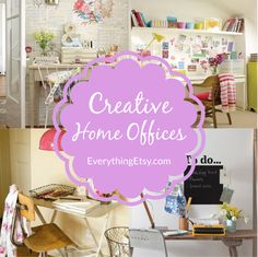 Creative Home Offices - EverythingEtsy.com #craft #diy