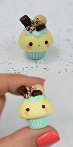 Do it yourself polymer clay kawaii cupcake @soul.crafting