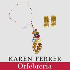 Hermoso set de zarcillos + collar perteneciente a nuestro catálogo de orfebrería 2015/2016 disponible a través de contacto@karenferrer.com, hacemos envíos internacionales.  #girls #women #necklace #metalcraft #accesories #diseñovenezolano #fashion #jewelry #bracelet #earrings