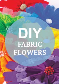 Learn how to make these fun fabric florals this summer -- the perfect way to decorate for a summer party!
