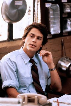 Rob Lowe- hot then still hot now Rob Lowe Young, Rob Lowe 80s, Young Actors, Hot Actors, Beautiful Boys, Pretty Boys, Gorgeous Men, Last Night Movie, Brat Pack
