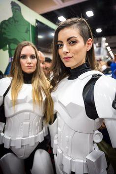 LeeAnna Vamp Storm Trooper Cosplay - #SDCC San Diego Comic Con 2014