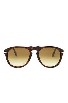 Persol Unisex Havana Plastic Sunglasses