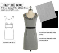 (A través de MTL: Una gran gris en el vestido de Oficina - El Blog Sew semanal Costura y amp; Vintage Fashion Community)
