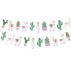 Llama Party Supplies Party Banners - Mexican Fiesta/Cino De Mayo Llama Cactus Baby Shower/Birthday Party Decorations - Alpaca Succulent Bolivian Peru Party Home Decorations Baby Shower Cupcakes For Girls, Baby Shower Parties, Baby Shower Themes, Baby Boy Shower, Baby Shower Decorations, Girl Parties, Shower Ideas, Llama Birthday, Twin Birthday