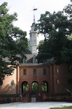 Capitol building, Colonial Williamsburg, Virginia