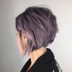 Short Pastel Purple Bob
