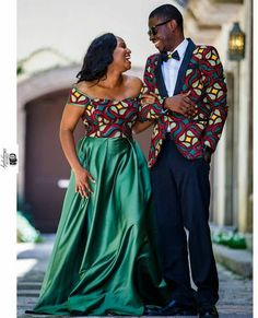 Ankara fabric is very attractive to most women who want to look stylish. Fashionistas are simply crazy about the Ankara fabric. Couples African Outfits, Couple Outfits, African Attire, African Wear, African Dress, African Style, Ankara Styles For Men, Ankara Gown Styles, Ankara Dress