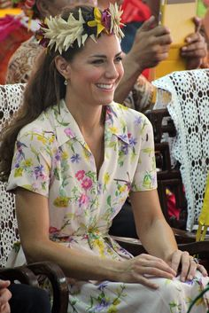 On the last day of her Asian tour, Kate chose Azuni earrings for $37.
