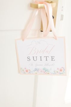 Perfect sign for getting ready ... Bridal suite door sign (The Grooms Beloved)