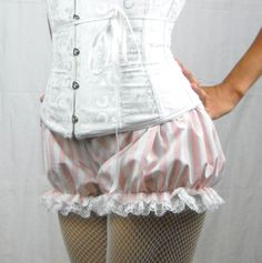 Pink and White striped Bloomers MADE TO ORDER limited quantity.. $28.00, via Etsy.