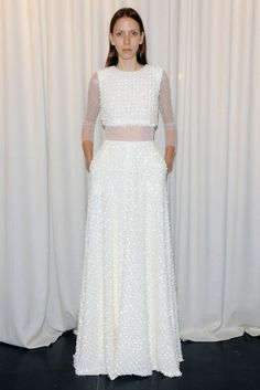 Dare to Bare: Crop Top Wedding Gowns are Making Their Way Down the Aisle in 2014 - Wedding Party