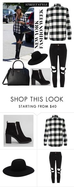 """""""Black and white style"""" by sophie01234 ❤ liked on Polyvore featuring New Look, Neil Barrett, Off-White, River Island and Kate Spade"""