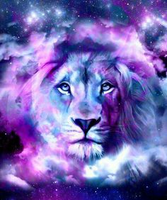 ƸӜƷ ღ .¸¸.•*¨*•ƸӜƷ Purple Lion Love! ƸӜƷ ღ .¸¸.•*¨*•ƸӜƷ Lion of Judah prophetic art.