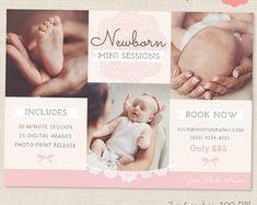 Pasgeboren fotografie Marketing Board door hazeldesignstudios