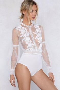 1493542c450 Make it happen. The I ll See to It Bodysuit comes in sheer mesh