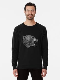 🖤 #hjorleifsonart #bear #sweatshirt #sweatshirtseason #bearart #artworkforsale #wildlife #animals #icelandic #artist