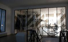 Glazen wanden met print bewerking