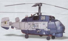 Kamov Ka-27PS Helix Military Helicopter Free Aircraft Paper Model Download…
