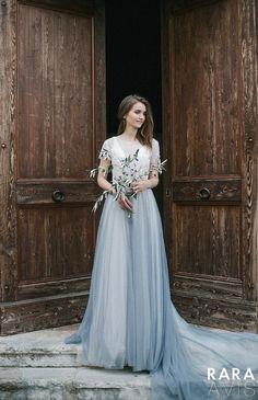 02dc52b3ca Wedding dress ROBERTA, wedding dresses, long sleeve wedding dress, bridal  dress, lace wedding dress