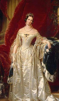 Portrait of Empress Alexandra Feodorovna aka Charlotte of Prussia. c 1840.  Wife of Nicholas I of Russia.