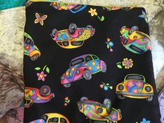 Funky retro Beetle hippy pouch tablet makeup by SewnInLoveCreations on Etsy