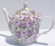 Purple violet teapot