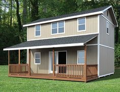 Sold thru Home Depot.   Pre-constructed, I believe, in Georgia for final assembly at the customer's job site.  Delivery limited to where Classic Manor can transport it.   Classic Manor primarily sells sheds and outbldgs.   However, their New Day model lends itself for finishing as a small home.   Choose the 16 ft or 18 ft depth.   Lengths from 16 ft to 36 ft.   Base price for the largest size choice (18 x 36) is in the low $20's before options.     I can't imagine not opting for that long…