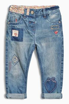 Buy Denim Mid Blue Embellished Jeans (3mths-6yrs) online today at Next: United States of America