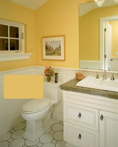 Manila Tint 310A-3 by Behr, Custard by Martha Stewart Living (available at Home Depot in Canada).