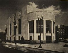 Ridgewood Savings Bank, Forest Hills, NY. This beautiful building has stood on a island between Queens Boulevard and 108th St, since 1939. Halsey, McCormack & Helmer, Architects