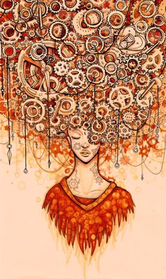 An illustration of my brain. I have a lot on my mind.