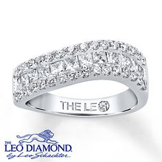 This would be a beautiful anniversary band! Leo Diamond Ring 1 1/2 Carat tw 14K White Gold