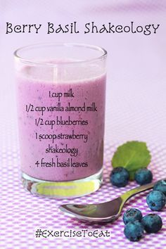 Strawberry Shakeology Recipe. Fruity, tasty, fresh and healthy! Best healthy shakes you can make:)