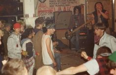 some italian punks may 1985 at the BGK / Toxic Reasons / Negazione show in Venlo, Holland, photo by Helge Schreiber