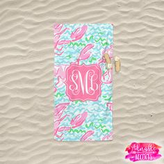 4e333923430d68 Monogrammed Lilly Pulitzer Inspired Beach Towel - Lobstah Roll – Adorable  Accents Lilly Pulitzer, Beach