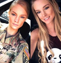 I need to move to the US ! - Militär Gedanke 33 - Women in Uniform Female Army Soldier, Military Girl, Military Women, Girls Uniforms, Badass Women, Curves, Beautiful Women, Poses, Portrait