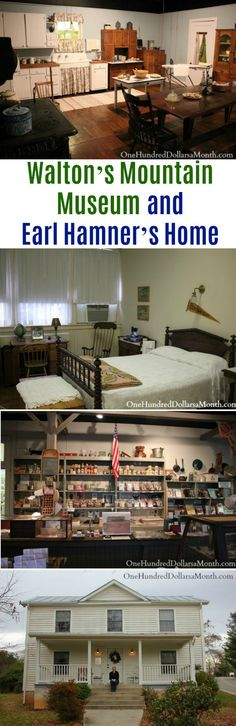 Walton's Mountain Museum and Earl Hamner's Home - One Hundred Dollars a Month Walton House, Romantic Kitchen, I Want To Travel, Appalachian Trail, Historic Homes, Vacation Spots, Virginia, House Plans, Road Trip