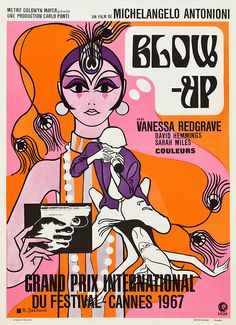 Blow Up * Grand Prix International * Cannes (1967) I would put this in my barbie room fer sure